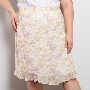 90s/2000s Floral Silk Skirt