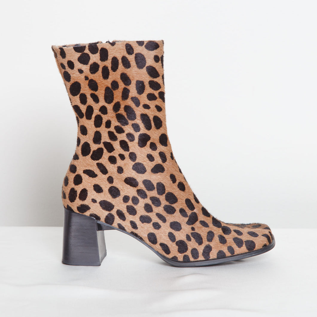 Animal Print Franco Sarto Booties