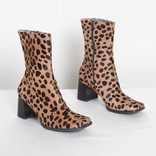 Load image into Gallery viewer, Animal Print Franco Sarto Booties