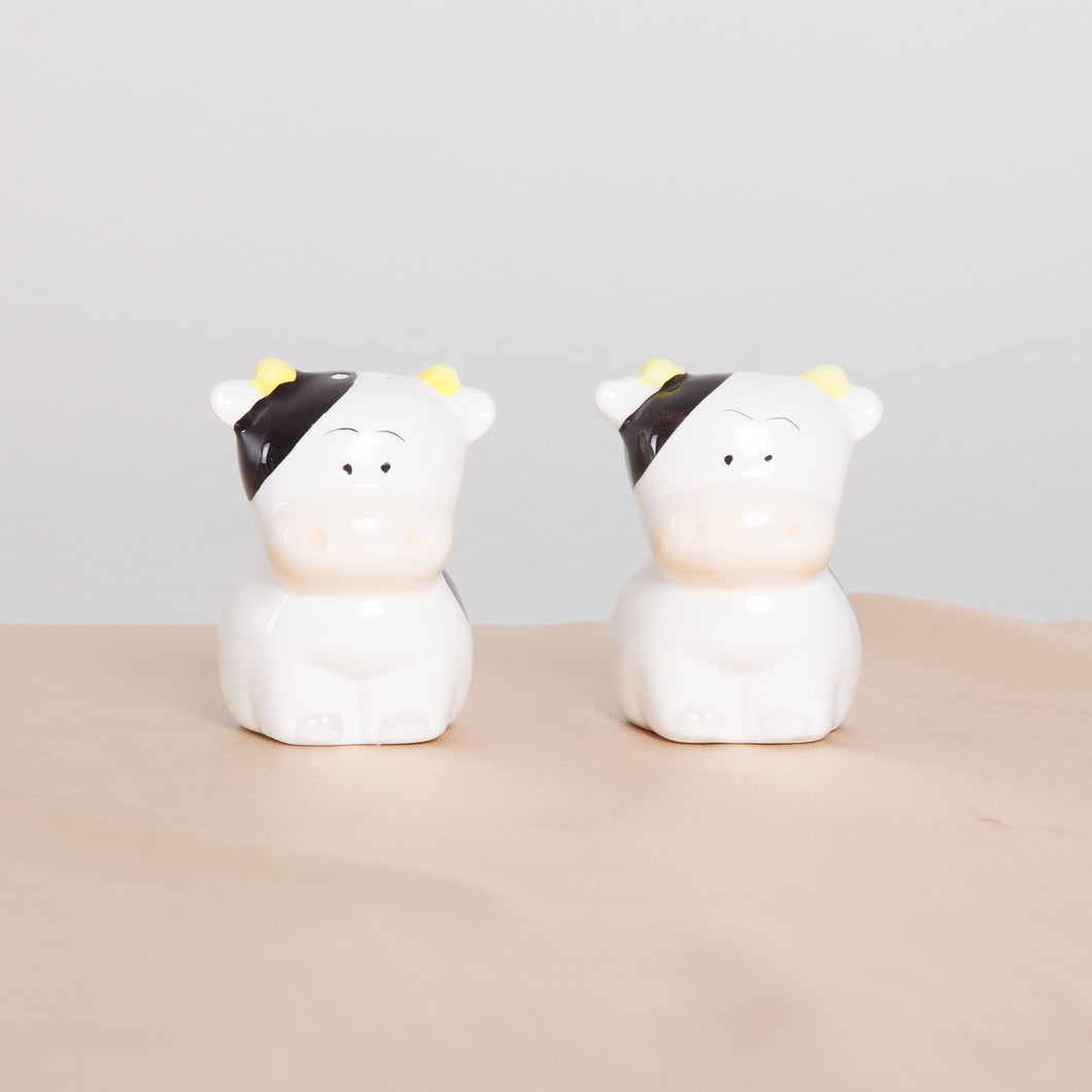 Ceramic Cow Salt and Pepper Shakers