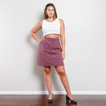 Load image into Gallery viewer, Deadstock 90s Plaid Skirt in Purple