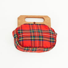Load image into Gallery viewer, 80s Plaid Clutch