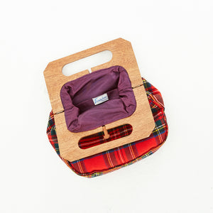 80s Plaid Clutch