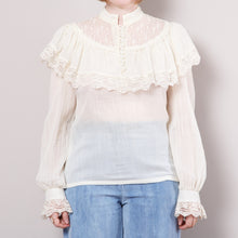 Load image into Gallery viewer, Gunne Sax 70s Victorian Style Blouse