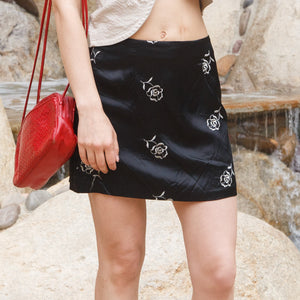 Dark Rose 90s Skirt