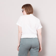 Load image into Gallery viewer, 50s White Crop Top