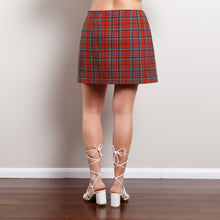 Load image into Gallery viewer, Vintage Plaid Wool Blend Skirt