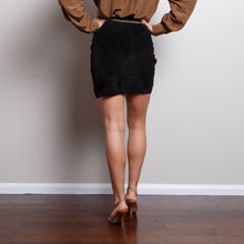 Load image into Gallery viewer, 90s Suede Black Skirt