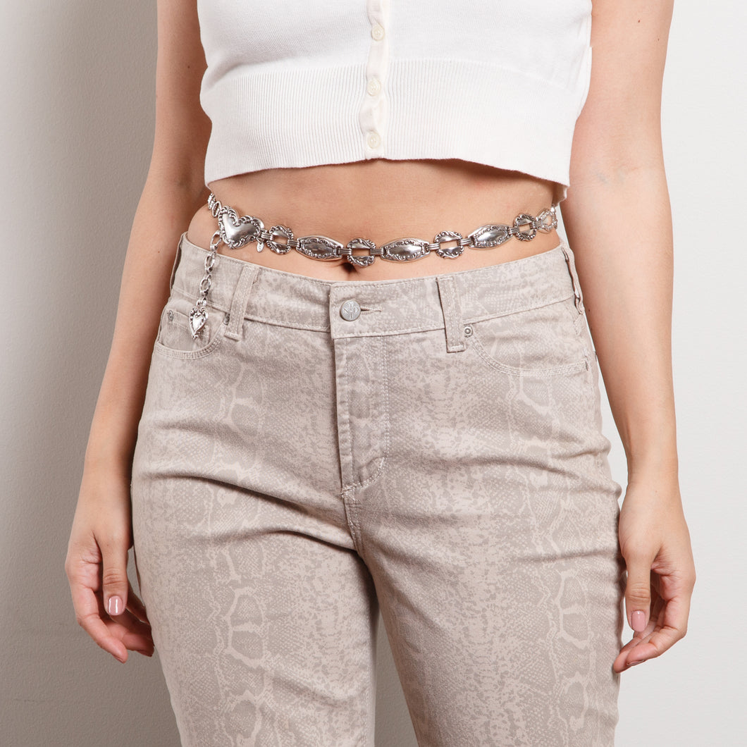 90s Silver Chunky Chain Belt