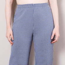 Load image into Gallery viewer, 70s Blue Gingham Bell Bottoms