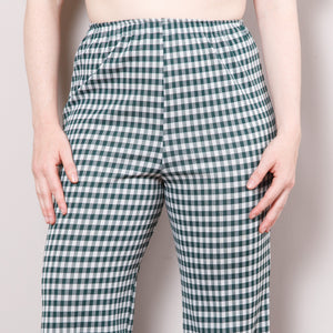 70s Cropped Gingham Bell Bottoms