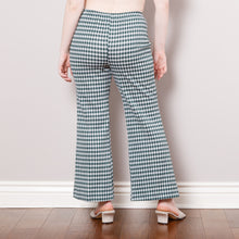 Load image into Gallery viewer, 70s Cropped Gingham Bell Bottoms