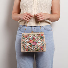 Load image into Gallery viewer, Vintage Cross Stitch Mini Purse