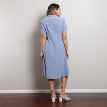 Load image into Gallery viewer, Vintage Blue Polka Dot Midi Dress