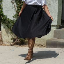Load image into Gallery viewer, Black Midi Skirt