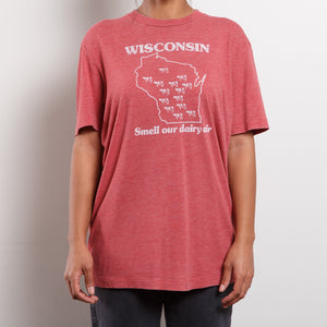 Vintage Paper Thin Wisconsin T Shirt