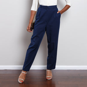 90s High Waisted Blue Trousers