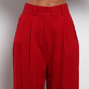 Red Bebe Trousers