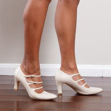 Load image into Gallery viewer, Vintage Strappy Cream Heel