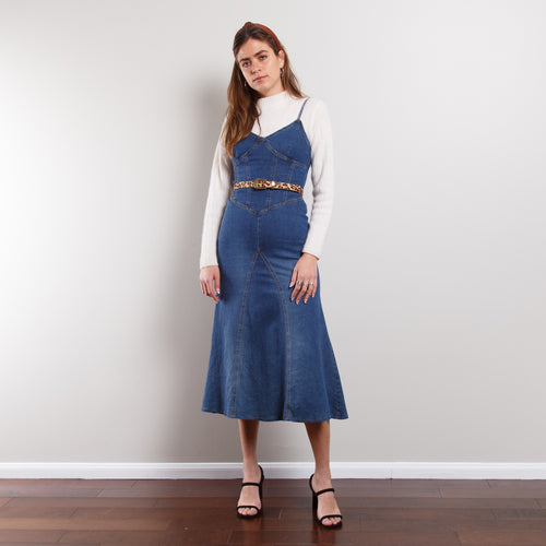 90s Denim Midi Dress