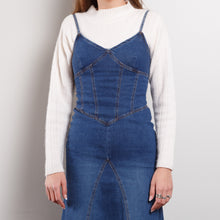 Load image into Gallery viewer, 90s Denim Midi Dress