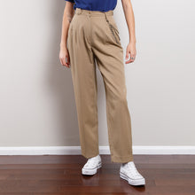 Load image into Gallery viewer, 100% Wool Vintage Beige Trousers