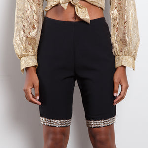 "Sequined ""Biker"" Shorts"
