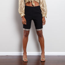 "Load image into Gallery viewer, Sequined ""Biker"" Shorts"