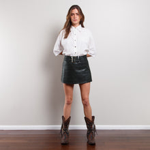 Load image into Gallery viewer, Vintage 90s Snakeskin Leather Skirt