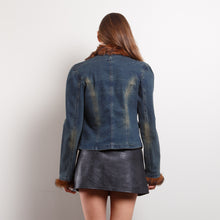Load image into Gallery viewer, 90s Faux Fur Lined Denim Jacket