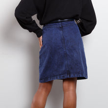 Load image into Gallery viewer, Dark Acid Wash Jean Skirt