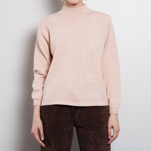 Load image into Gallery viewer, 80s Pastel Pink Floral Sweater