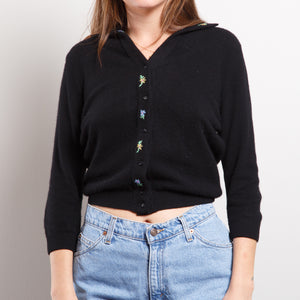 Vintage Black Cashmere Sweater