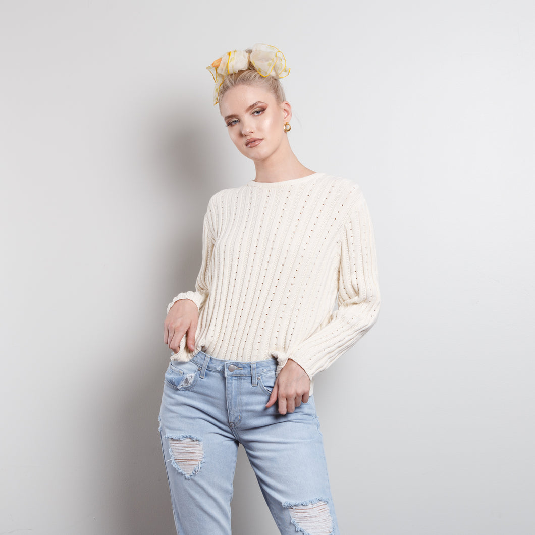Oatmeal Chunky Cable Sweater