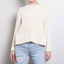 Load image into Gallery viewer, Oatmeal Chunky Cable Sweater