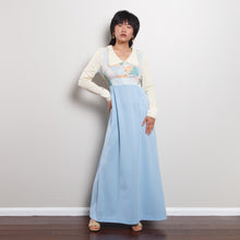Load image into Gallery viewer, 60s/70s Blue Patchwork Maxi Dress