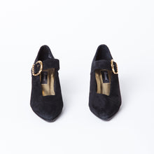 Load image into Gallery viewer, Vegan Suede Black Heels