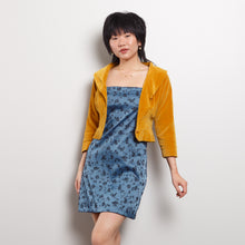 Load image into Gallery viewer, 50s Gold Cropped Cardigan