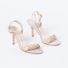 Load image into Gallery viewer, Gold Embellished Heels