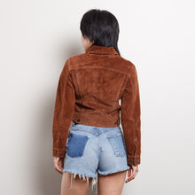 Load image into Gallery viewer, 90s/2000s Brown Suede Cropped Jacket