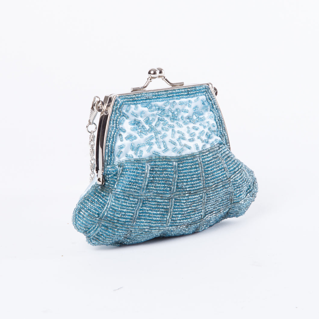 Beaded Aquamarine Mini Handbag
