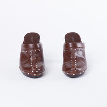 Load image into Gallery viewer, Brown Studded Clogs