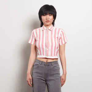 Vintage Stripe Crop Top