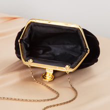 Load image into Gallery viewer, 80s/90s Black Velvet Coin Purse