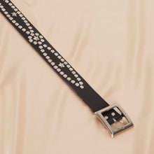 Load image into Gallery viewer, Vintage Studded Black Belt