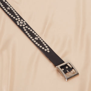 Vintage Studded Black Belt