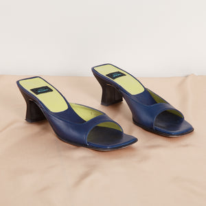 90s Square Toe Blue Heel