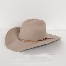 Load image into Gallery viewer, Beige Cowboy Hat with Silver Medallions