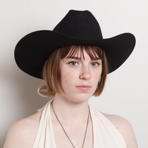 Wool Western Hat in Black