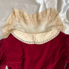 Load image into Gallery viewer, Victorian Style Maroon Velvet Top